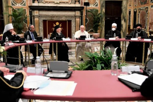 教宗方濟各與不同宗教領袖在世界教師日討論教育問題